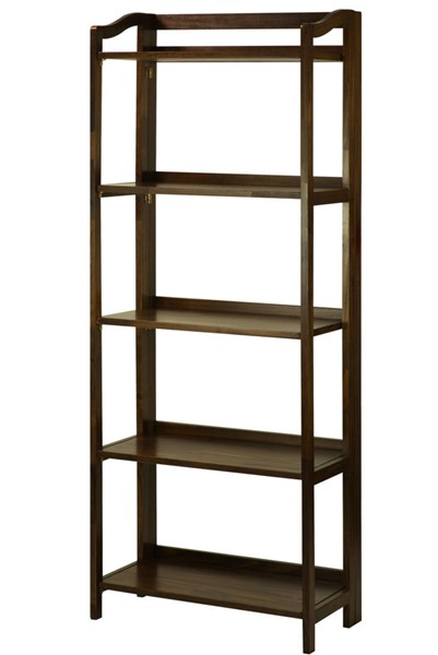 Casual Home Stratford Warm Brown 5 Shelves Folding Bookcase CHOM-337-54