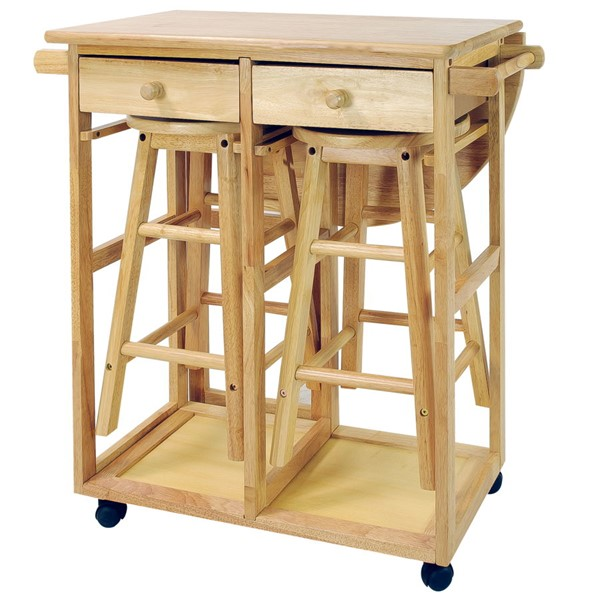 Casual Home 3pc Breakfast Cart Tables CHOM-355-20-DR-VAR