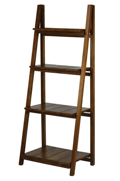 Casual Home Manhasset Slatted Warm Brown Folding Bookcase CHOM-360-44