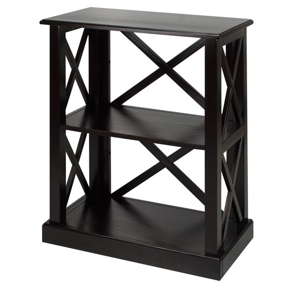 Casual Home Bay View Black 3 Shelves Bookcase CHOM-363-32
