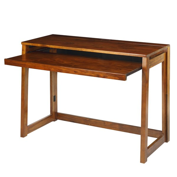 Casual Home Warm Brown Solid Wood Folding Desk CHOM-533-44