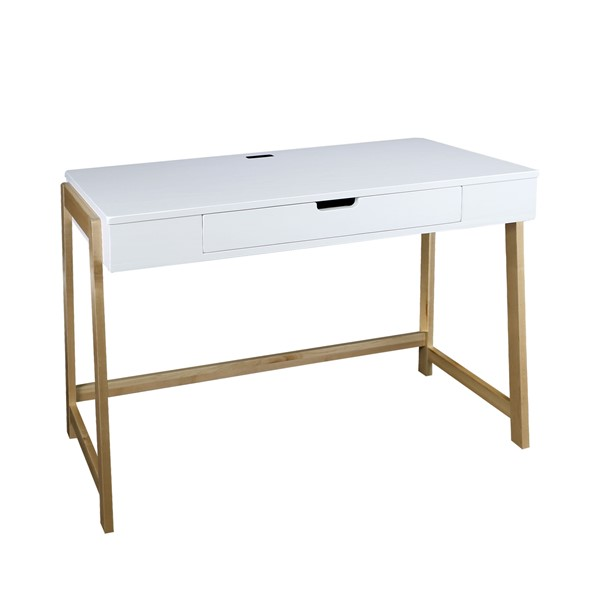 Casual Home Neorustic White Natural Smart Desk CHOM-535-51