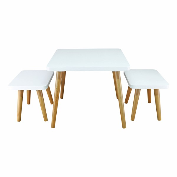 Casual Home The Easel White Natural Kids Table and Chair Set CHOM-560-31