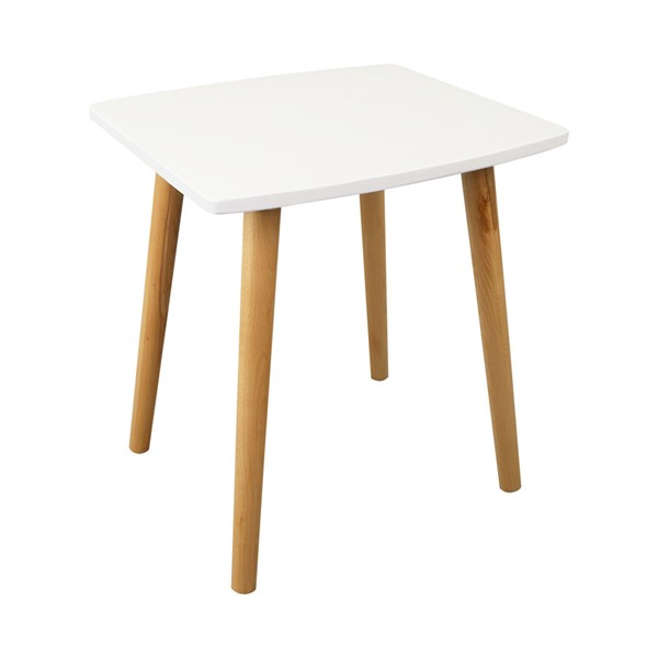 Casual Home Ezly White Natural Wooden End Table CHOM-563-11