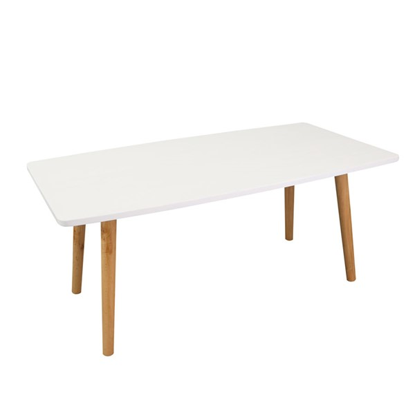 Casual Home Ezly White Natural Wooden Coffee Table CHOM-563-21