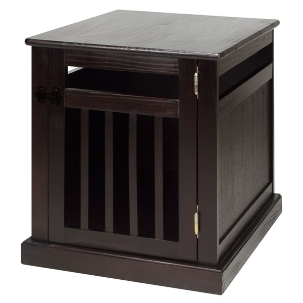 Casual Home Espresso Solid Wood Chappy Pet Crate CHOM-600-14