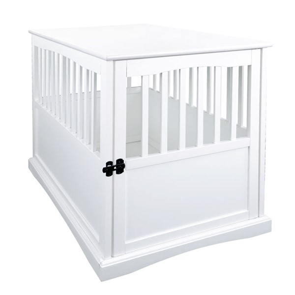 Casual Home White Solid Wood Pet Crate End Table CHOM-600-21