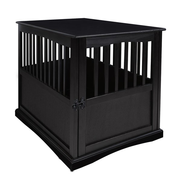 Casual Home Black Solid Wood Pet Crate End Table CHOM-600-22