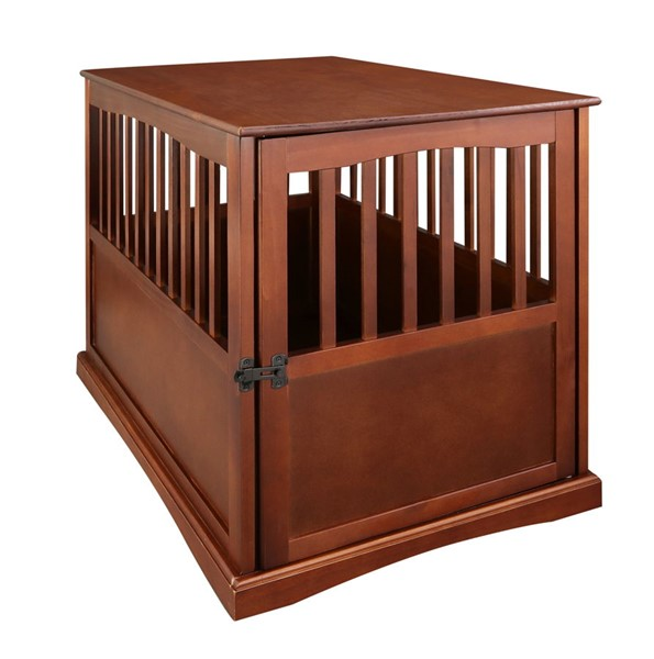 Casual Home Walnut Solid Wood Pet Crate End Table CHOM-600-23