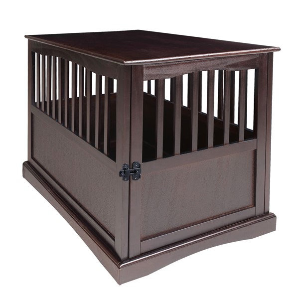 Casual Home Espresso Solid Wood Pet Crate End Table CHOM-600-24