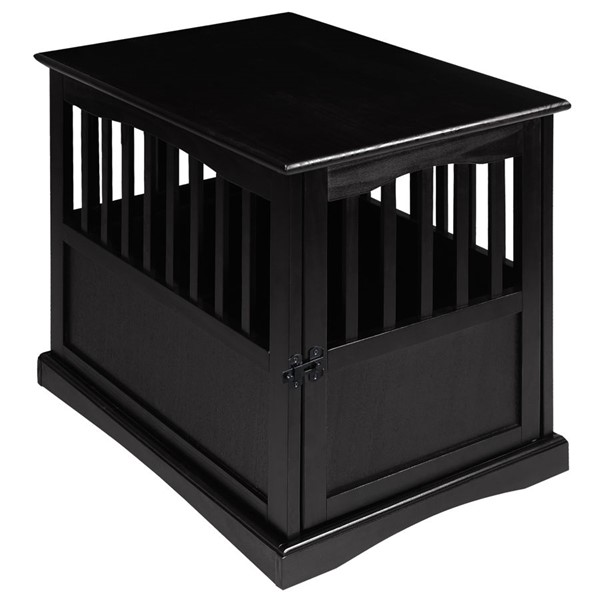 Casual Home Black Pet Crate End Table CHOM-600-42