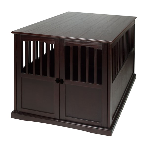 Casual Home Espresso Extra Large Pet Crate End Table CHOM-600-84