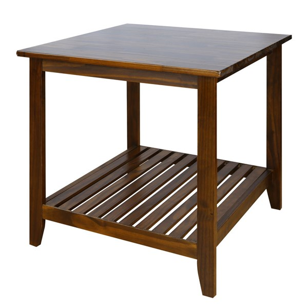 Casual Home Medan Warm Brown Solid Wood End Table CHOM-609-15