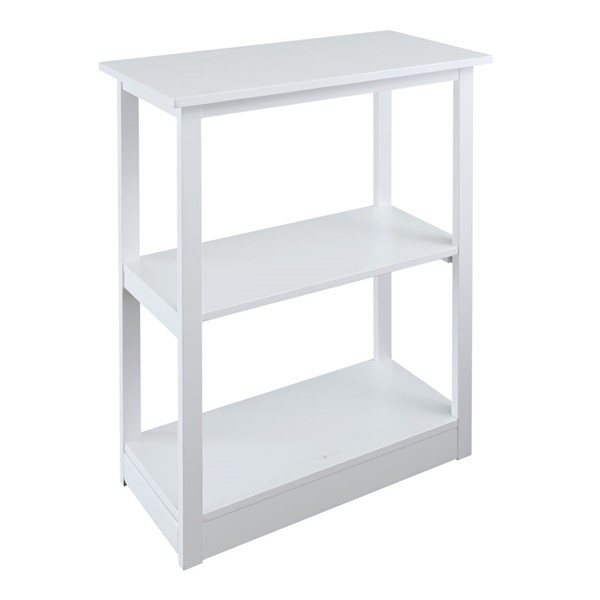 Casual Home Adams White 3 Shelves Bookcase CHOM-615-41