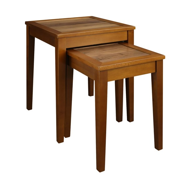 Casual Home Lincoln Antique Walnut Nesting End Table CHOM-615-816