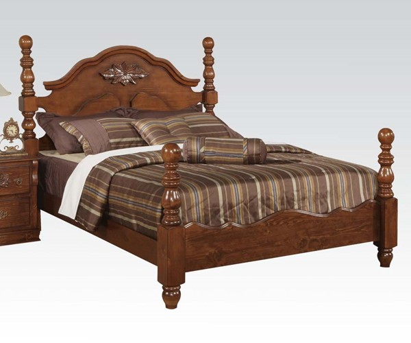 Ponderosa Traditional Walnut Wood King Bed ACM-01717EK
