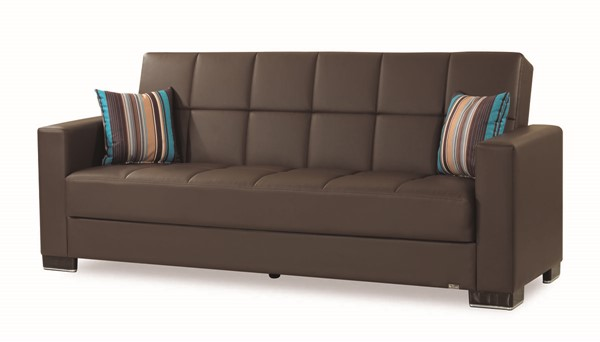 Casamode Armada Brown PU Sofa CMD-ARMADA-BROWN-PU-SOFA
