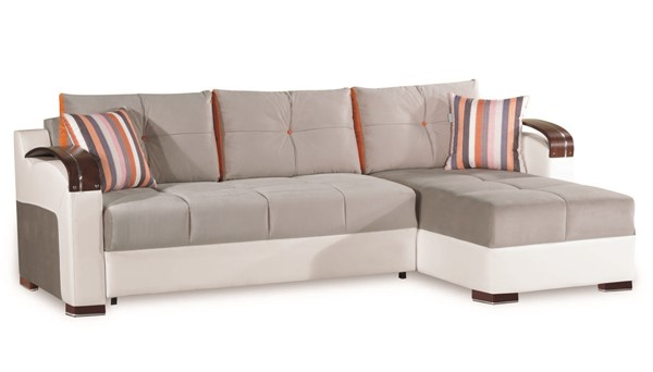 Casamode Divan Deluxe Gray Sectional CMD-DIVAN-DELUXE-GRAY-MIC-SECTIONAL