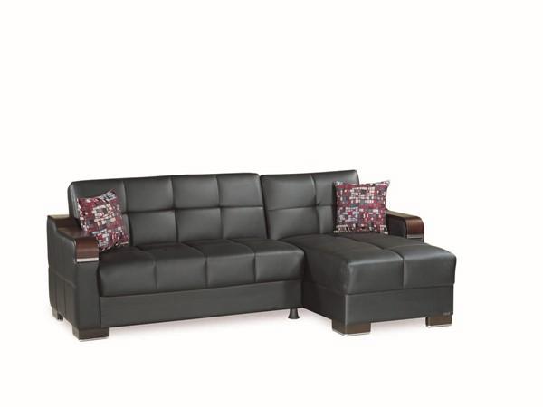 Casamode Down Town Black PU Sectional CMD-DOWN-TOWN-BLACK-PU-SECTIONAL