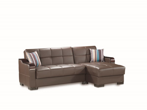 Casamode Down Town PU Sectionals with Ottoman CMD-DOWNTOWN-PU-SEC-SET-V1