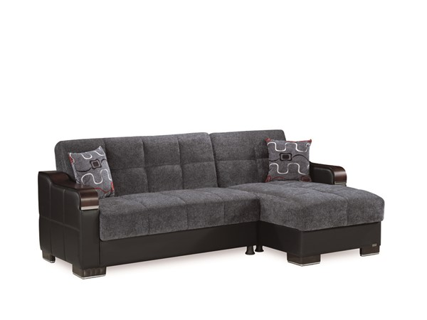 Casamode Down Town Gray Sectional CMD-DOWN-TOWN-GRAY-FABRIC-SECTIONAL