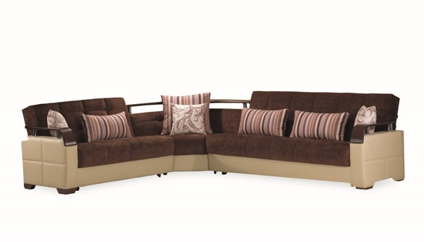 Casamode Karma Brown Cream Sectional CMD-KARMA-BROWN-CREAM-SECTIONAL