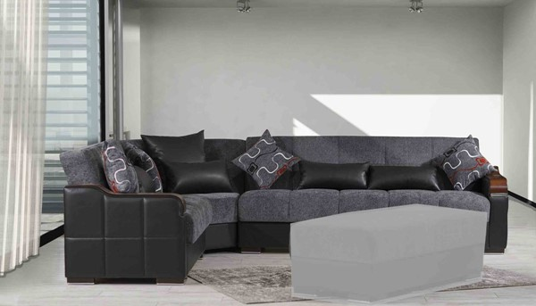 Casamode Midtown Gray Fabric Sectional CMD-MIDTOWN-GRAY-SECTIONAL