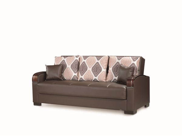 Casamode Mobimax Brown PU Sofabed CMD-MOBIMAX-BROWN-PU-SOFABED