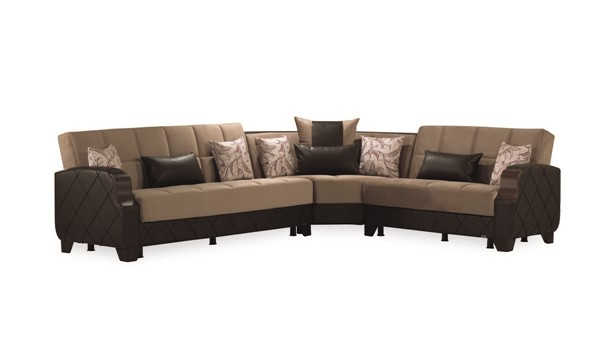 Casamode Molina Lyon Dark Brown Sectional CMD-MOLINA-LYON-DARK-BROWN-SECTIONAL