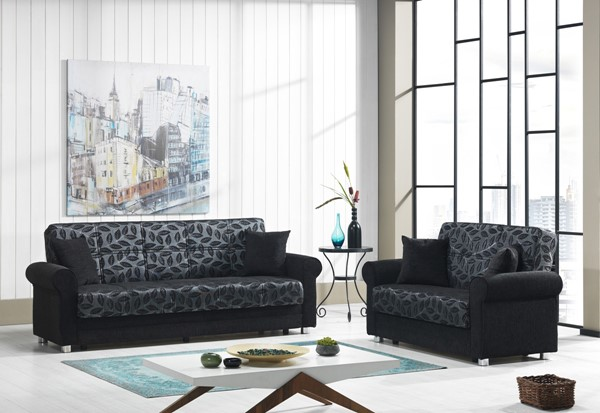 Casamode Rio Grande Black 2pc Living Room Set CMD-RIO-GRANDE-LR-S2