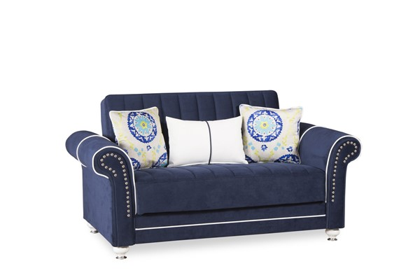 Casamode Royal Home Riva Dark Blue Loveseat CMD-ROYAL-HOME-RIVA-DARK-BLUE-LOVESEAT