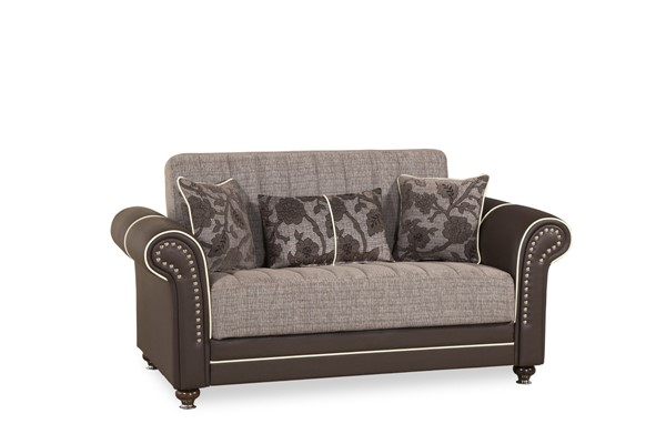 Casamode Royal Home Quantro Brown Loveseat CMD-ROYAL-HOME-QUANTRO-BROWN-LOVESEAT