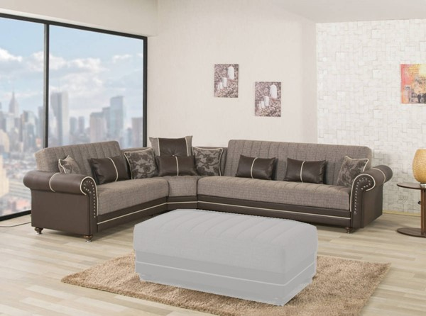 Casamode Royal Home Quantro Brown Sectional CMD-ROYALHOMEQUANTRO-BR-SECT