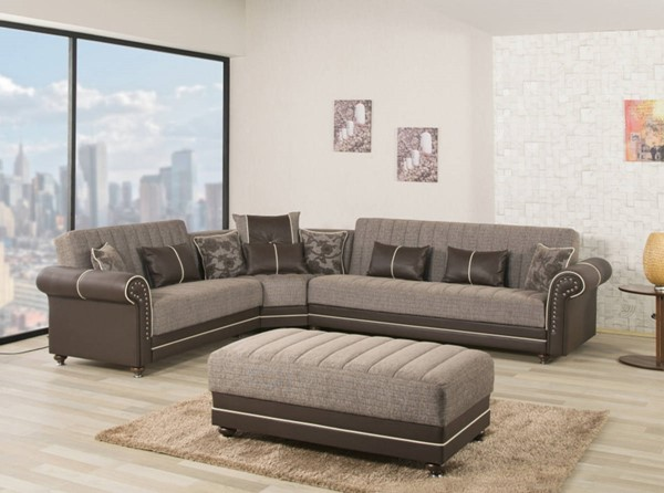 Casamode Royal Home Quantro Brown Sectional CMD-ROYAL-HOME-QUANTRO-BROWN-SECTIONAL