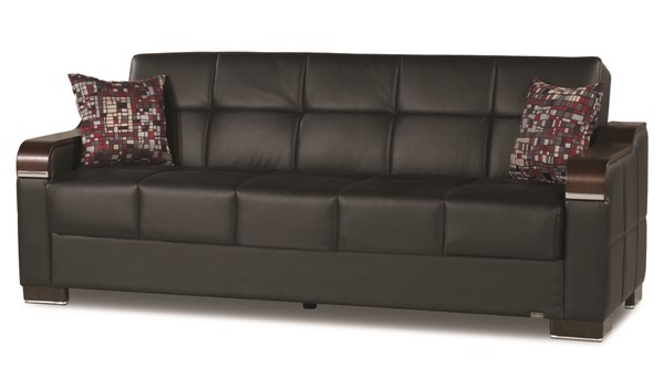 Casamode Uptown Black PU Sofabed CMD-UPTOWN-BLACK-PU-SOFABED