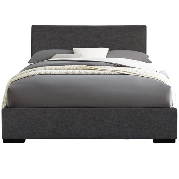 Camden Isle Abbey Gray Twin Platform Bed CMDN-102330
