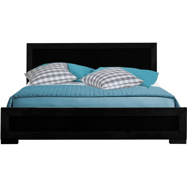 Camden Isle Oxford Black Queen Platform Bed CMDN-112132