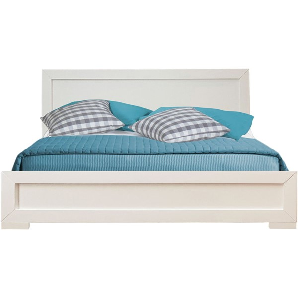 Camden Isle Oxford White Queen Platform Bed CMDN-112432