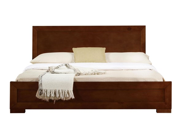 Camden Isle Trent Walnut Wooden King Platform Bed CMDN-86352