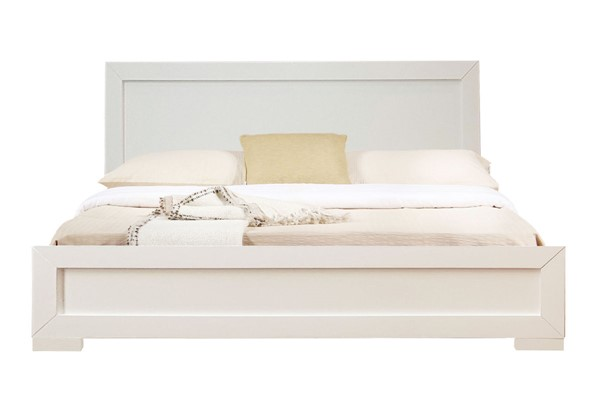 Camden Isle Trent White Wooden King Platform Bed CMDN-86354