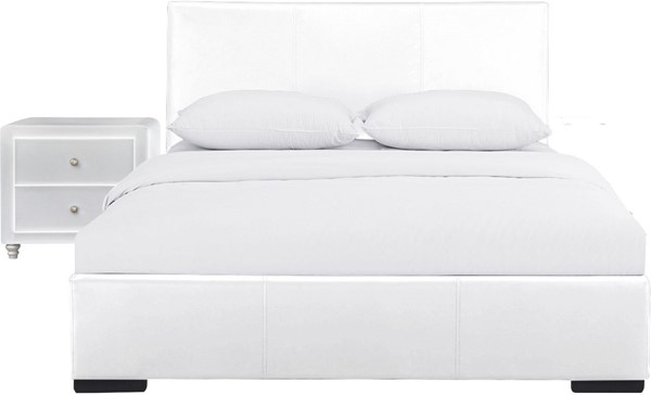 Camden Isle Hindes White 2pc Bedroom Set with Full Upholstered Platform Bed CMDN-86994