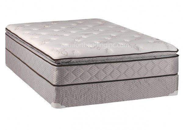 Comfort Bedding Medison Pillow Top Medium Plush Single Sided Twin Mattress and Box M311-2