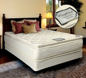 Comfort Bedding Exceptional Pillow Top Double Sided Soft Queen Mattress and Box M351-06