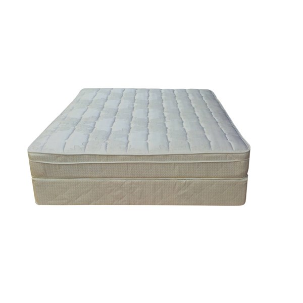 Comfort Bedding Tomorrows Dream Euro Top Plush Single Sided Twin Mattress and Box M440-2
