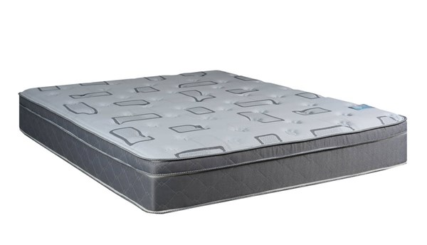 Trophy Foam Encased Gray Eurotop Plush Single Sided Queen Mattress M443-5