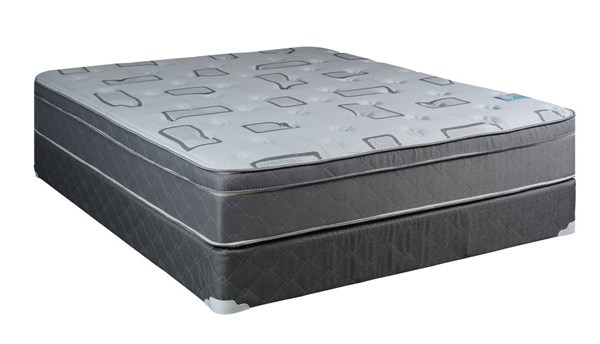 Comfort Bedding Trophy Foam Encased Eurotop Plush Single Sided Full Mattress and Box M443-4
