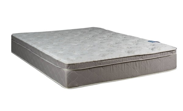 Milano Foam Encased Gray White Eurotop Medium Plush Twin Mattress M446-1