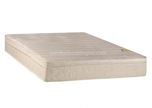 Comfort Bedding Pedic Foam Encased Eurotop Plus Double Sided Twin Mattress M450-1