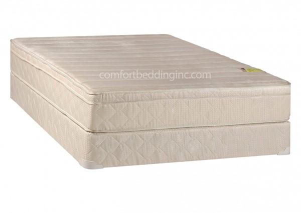 Comfort Pedic White Foam Encased Eurotop Firm Full Mattress And Box M450-4