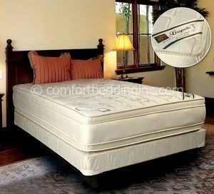 Comfort Bedding Extrapedic Euro Top Firm Foam Encased Queen Mattress and Box M480-06